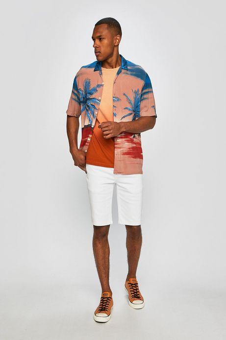Koszula męska w palmy pomarańczowa