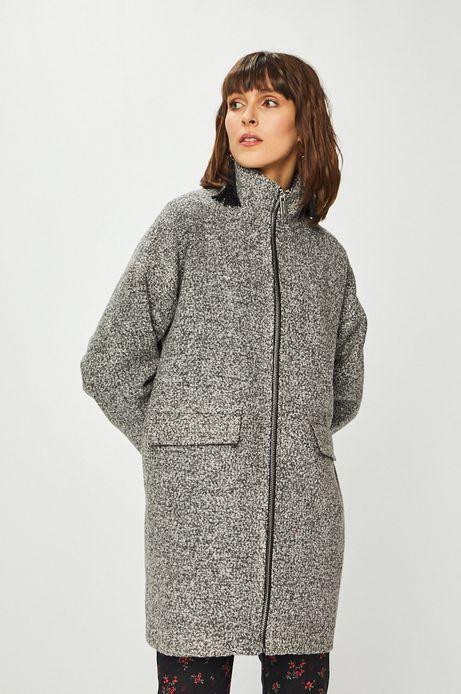 Płaszcz damski na podszewce szary