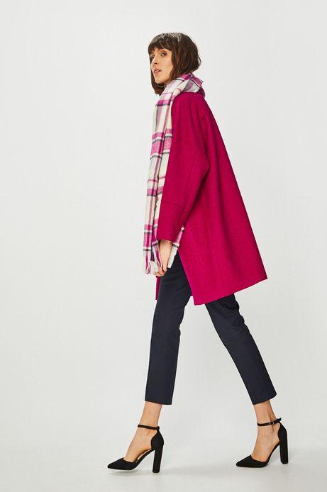 Płaszcz damski z domieszką wełny fioletowy