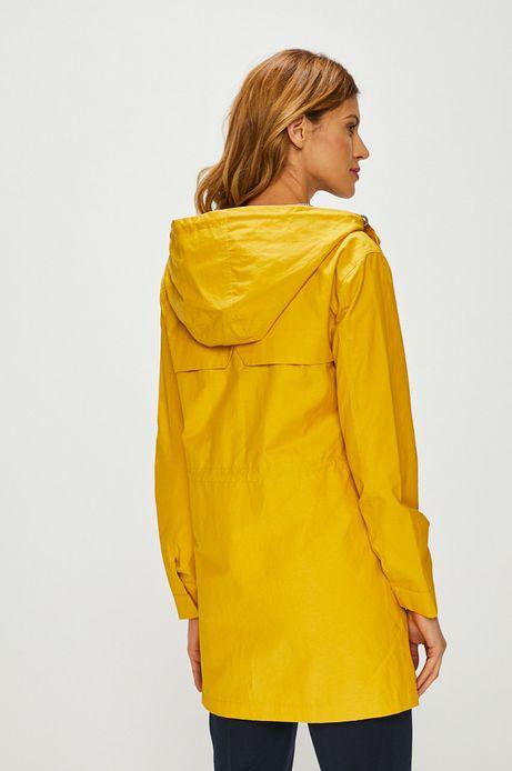 Parka damska na podszewce żółta