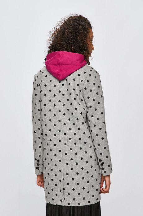 Płaszcz damski z domieszką wełny szary
