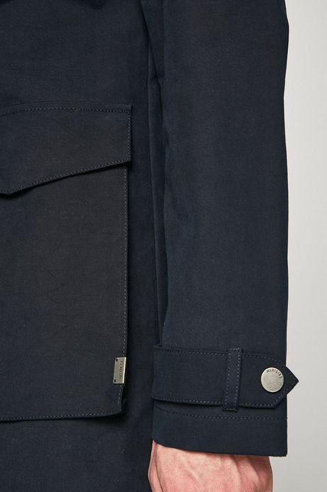 Przejściowy płaszcz męski granatowy