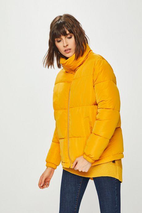Kurtka damska ocieplana żółta