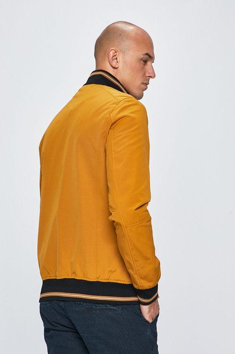 Kurtka męska wykończona ściągaczem żółta