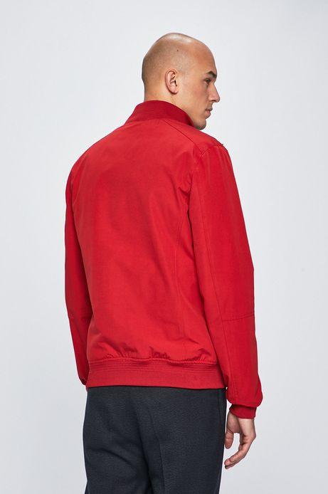 Kurtka męska wykończona ściągaczem czerwona