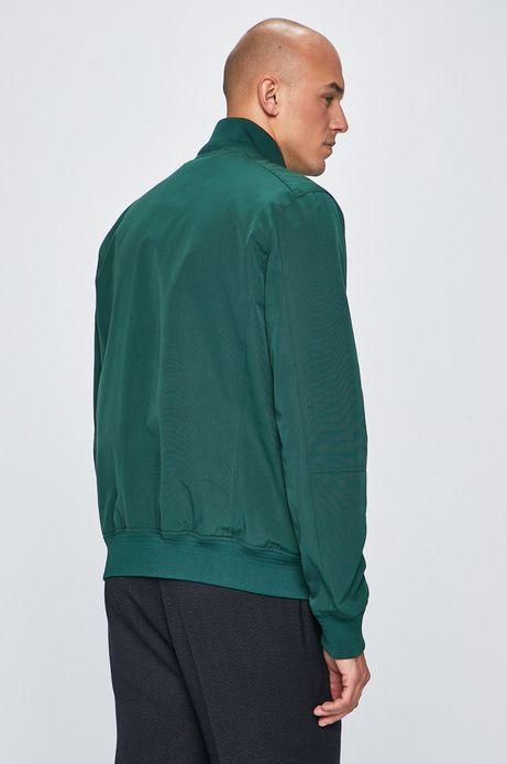 Kurtka męska wykończona ściągaczem zielona