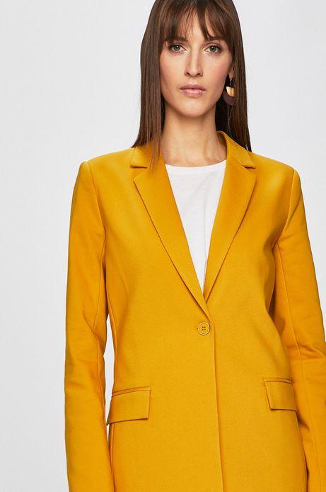 Żakiet damski na podszewce żółty