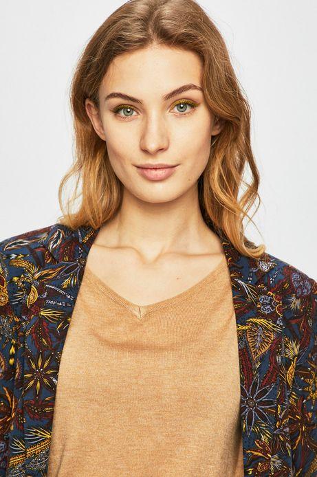 Żakiet damski z wzorzystego materiału