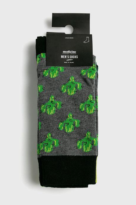 Skarpety męskie w kaktusy (2-pack)