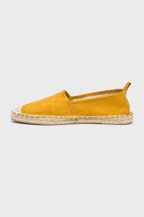 Espadryle damskie żółte