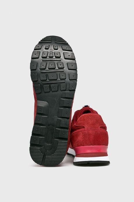 Buty męskie ze skóry zamszowej czerwone