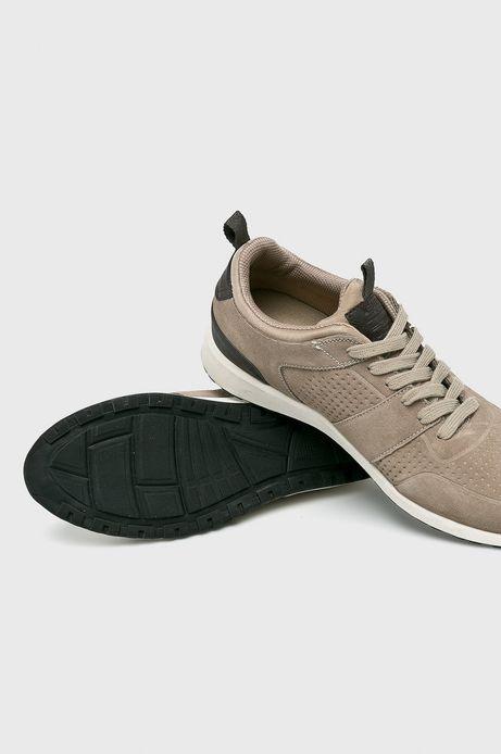 Buty męskie ze skóry naturalnej beżowe