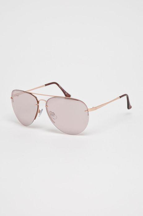 Okulary damskie aviator różowe