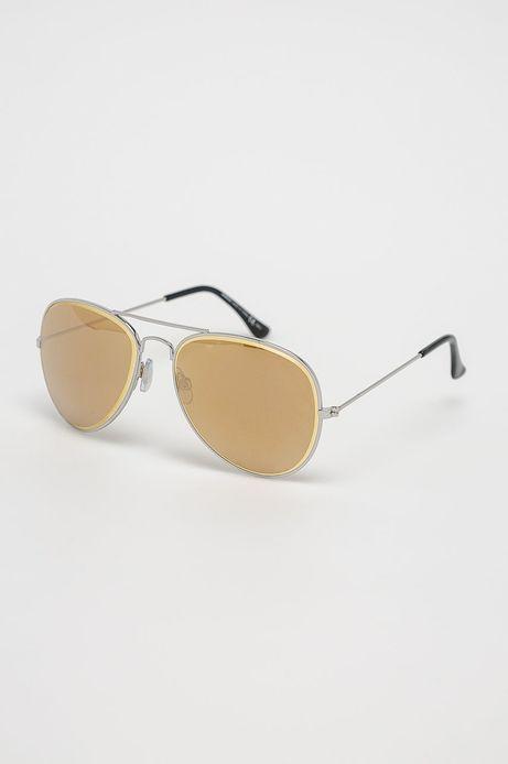 Okulary damskie aviator złote