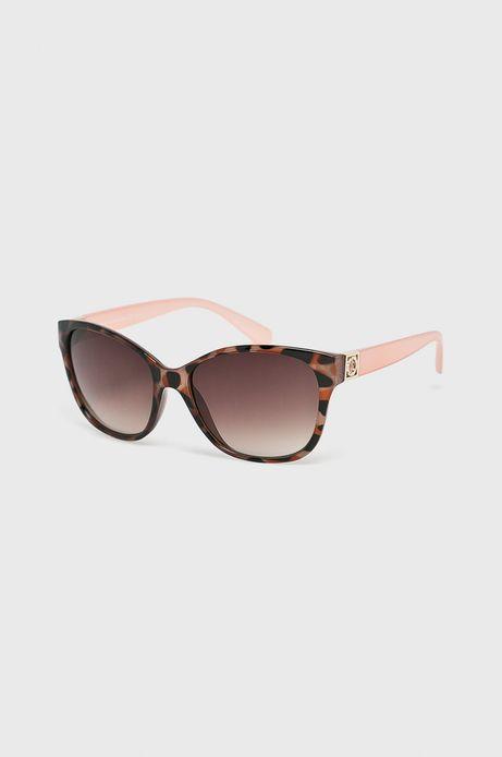 Okulary damskie brązowe