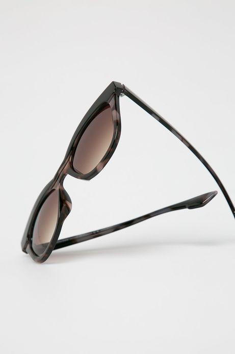 Okulary przeciwsłoneczne typu kocie oczy damskie czarne
