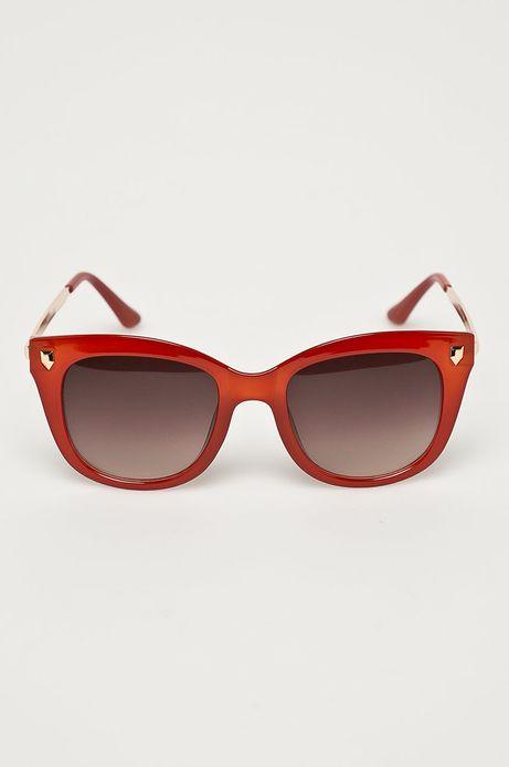 Okulary przeciwsłoneczne męskie w kwadratowej oprawie czerwone