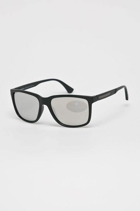 Okulary przeciwsłoneczne męskie w prostokątnej oprawie czarne