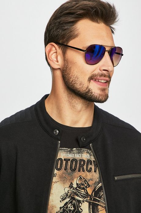 Okulary przeciwsłoneczne męskie aviator szare