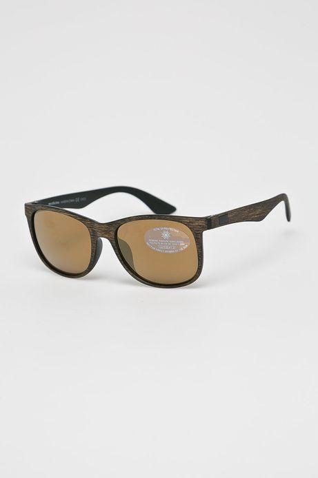 Okulary przeciwsłoneczne męskie w prostokątnej oprawie brązowe