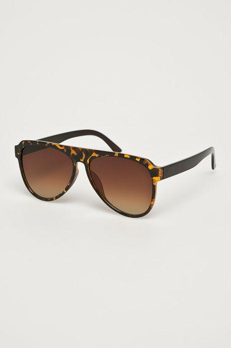 Okulary przeciwsłoneczne męskie aviator brązowe