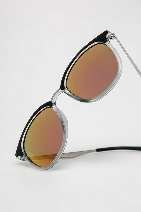 Okulary przeciwsłoneczne męskie w okrągłej oprawie szare