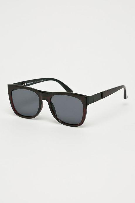 Okulary przeciwsłoneczne męskie w prostokątnej oprawie bordowe
