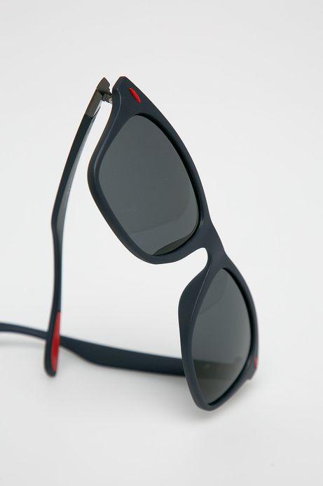 Okulary przeciwsłoneczne w prostokątnej oprawie męskie granatowe