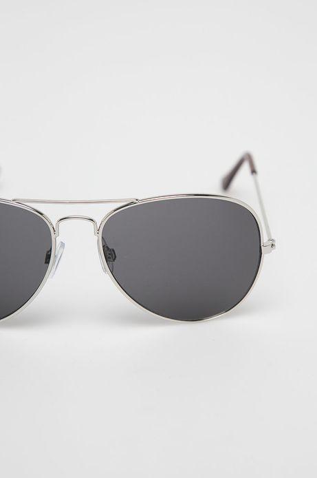 Okulary przeciwsłoneczne męskie aviator srebrne