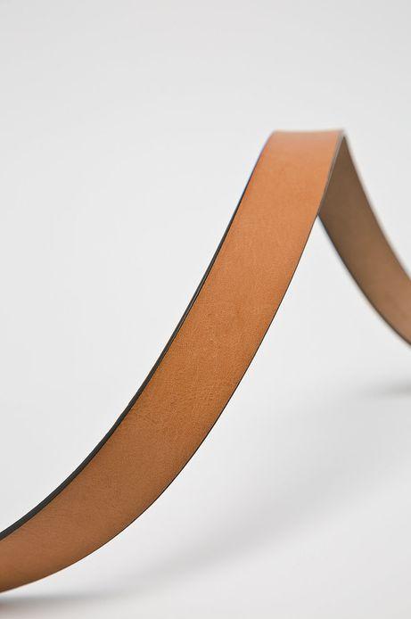 Pasek damski ze skóry ekologicznej brązowy