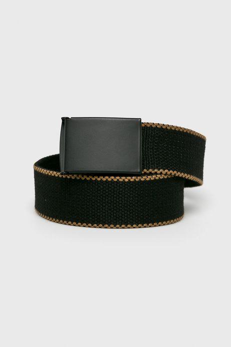 Pasek męski z materiału tekstylnego czarny