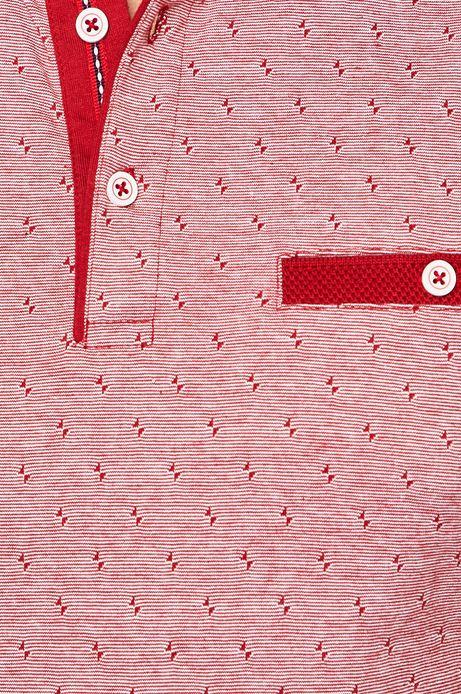 Polo męskie wzorzyste czerwone