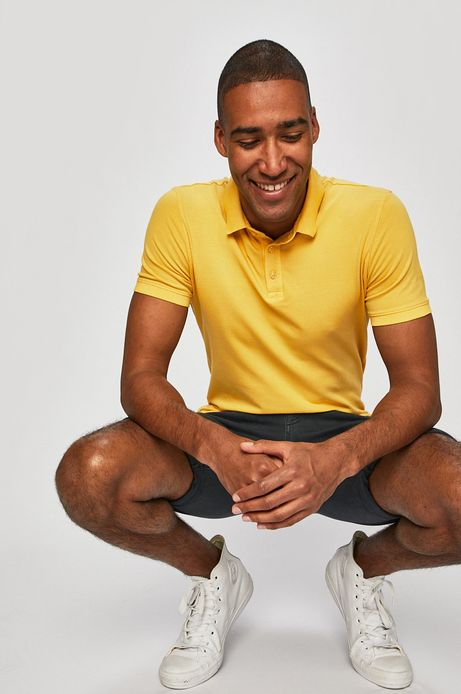 Polo męskie w fasonie slim żółte
