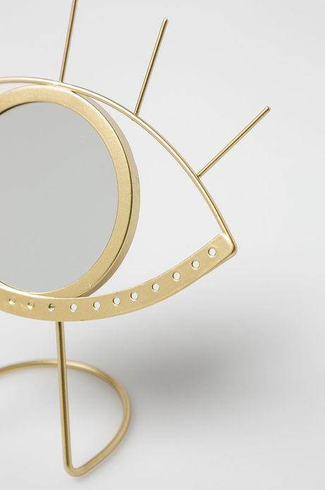 Lustro w kształcie oka złote