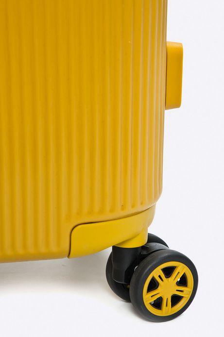Walizka na kółkach żółta