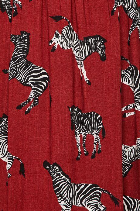 Spódnica damska w zebry brązowa