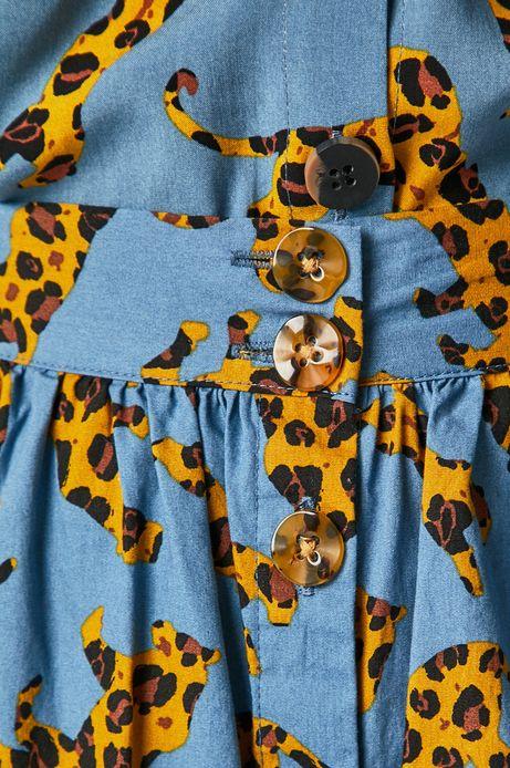 Spódnica damska wzorzysta niebieska