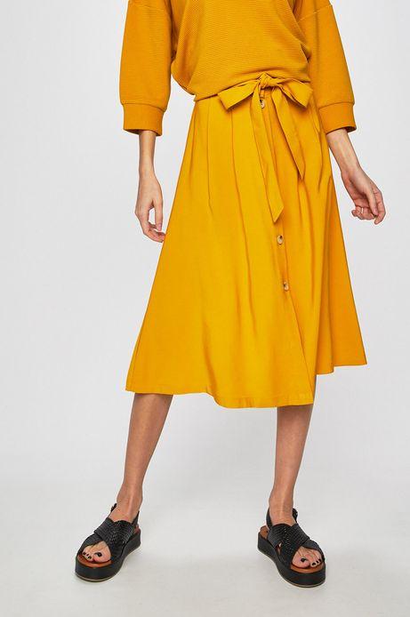 Spódnica damska rozkloszowana żółta