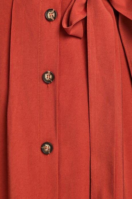 Spódnica damska zapinana na guziki czerwona