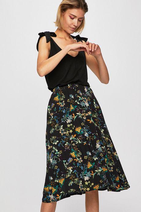 Spódnica damska rozkloszowana w kwiaty
