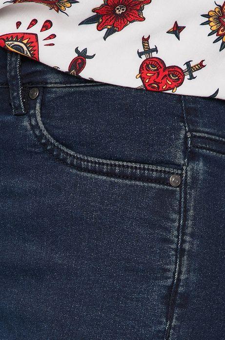 Jeansy damskie granatowe