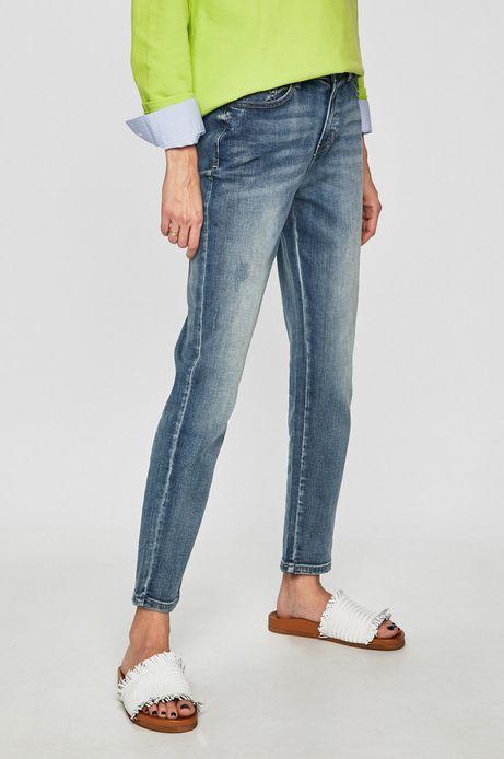 Jeansy damskie  straight niebieskie