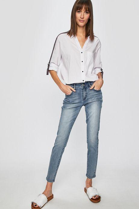 Jeansy damskie slim niebieskie