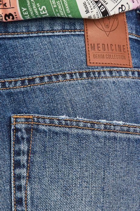 Jeansy damskie w fasonie straight niebieskie