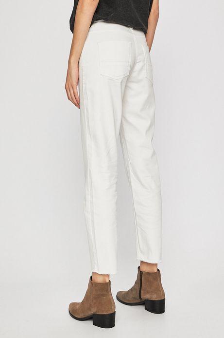 Jeansy damskie straight białe