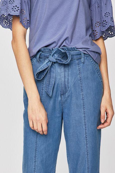 Spodnie damskie z podwyższonym stanem niebieskie