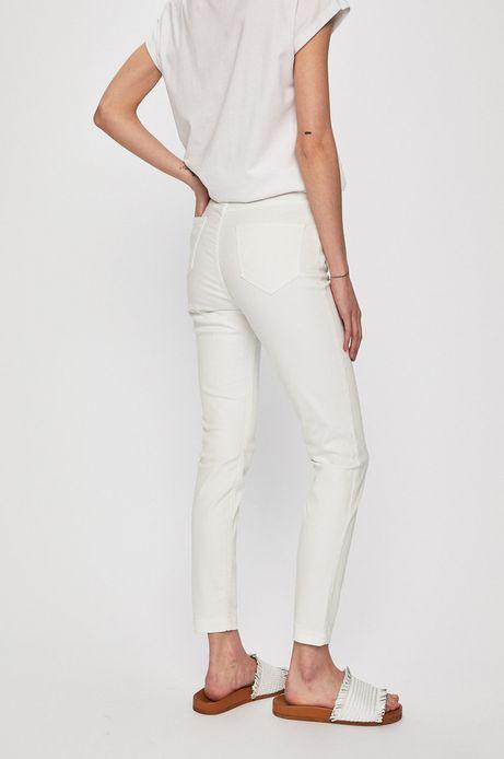 Jeansy damskie skinny białe