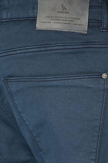 Spodnie męskie w fasonie tapered granatowe