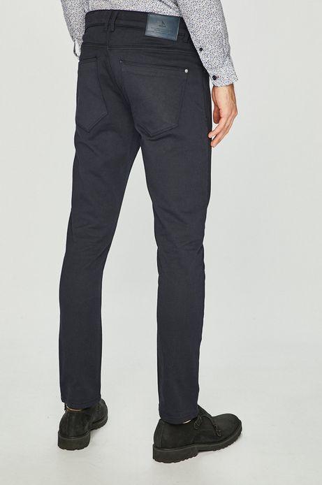 Spodnie męskie w fasonie tapered niebieskie