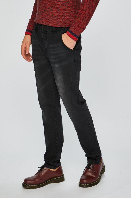 Jeansy męskie slim czarne